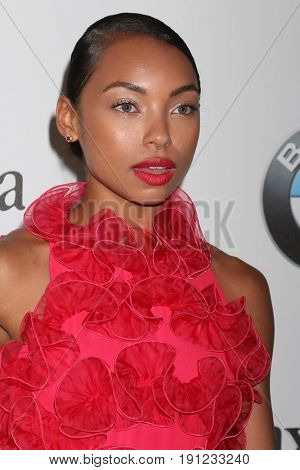 LOS ANGELES - JUN 13:  Logan Browning at the Women in Film Los Angeles Celebrates the 2017 Crystal and Lucy Awards at the Beverly Hilton Hotel on June 13, 2017 in Beverly Hills, CA