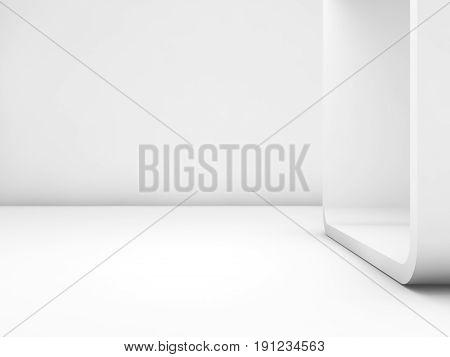 Abstract White Empty Interior, Contemporary Art