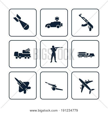 or army icons set - military icons design. Colletion of fight icons