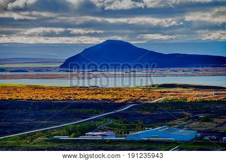 Lake Myvatn in Iceland in Northern Europe