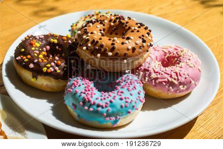 Donuts, Different Types, Flavors And Colors