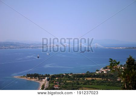 landscape view of a bay in the mediterranean sea