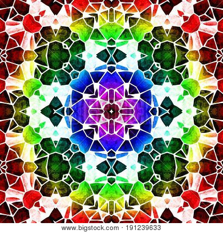 Image of the abstract kaleidoscopic pattern and texture