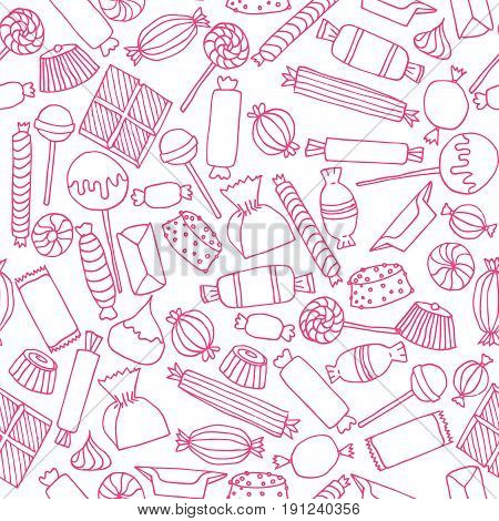 Hand Drawn Candy Seamless Pattern