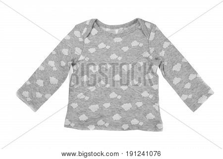 Children gray jacket isolate on white background