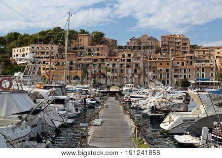 Port in the town of Sóller Palma de Mallorca