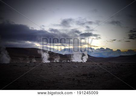 Sol De Manana Geothermal Field In Sud Lipez Reserva, Bolivia