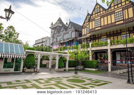 Bangkok, Thailand. - April 2, 2017 : Pickadaily Bangkok shopping mall in English or Europe style, shopping mall and location on Onnuch, Bangkok, Thailand.