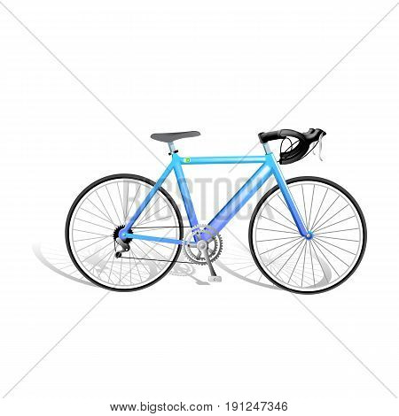 Vector Realistic Isolated Bicycle. Vector Illustration design
