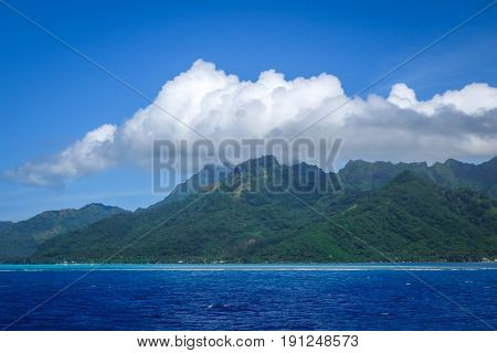 Moorea Island And Pacific Ocean Lagoon Landscape