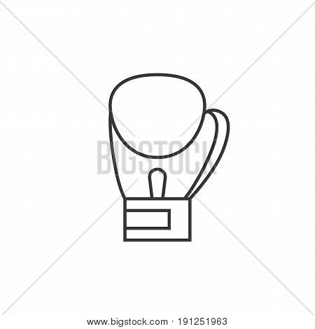 Simple boxing gloves icon, glove symbol, outline icon