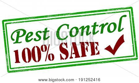 Stamp with text pest control inside vector illustration