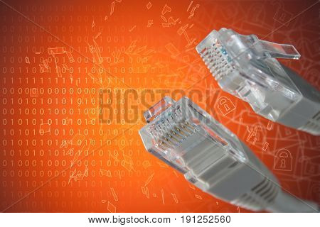 The Concept Of Connection To The Internet. Plug Rj 45 Close-up.