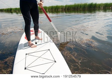 Sup Stand Up Girl With A Paddle 06