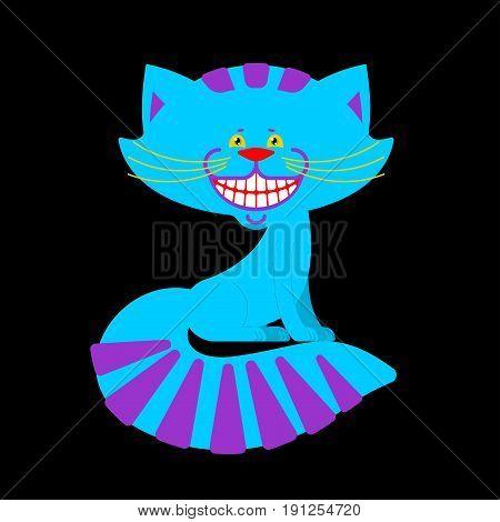 Cheshire Cat Smile Isolated. Fantastic Pet Alice In Wonderland. Magic Animal