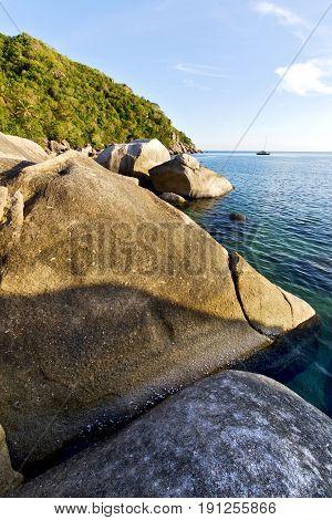 Stone   Thailand Kho Tao Bay Abstract Of A Blue Lagoon    South China Sea