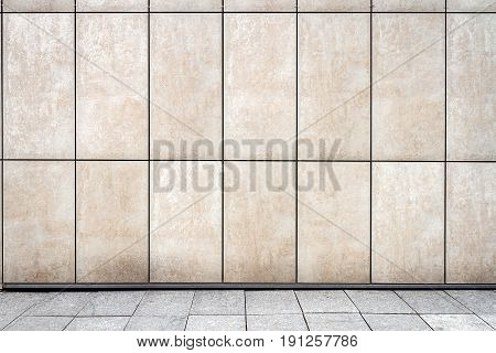 Modern weathered white tile wall texture background