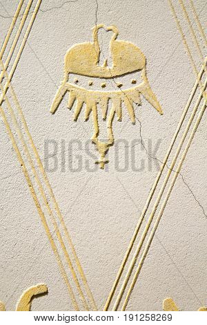 Wall Milan  Italy Old   Church Concrete  Crown