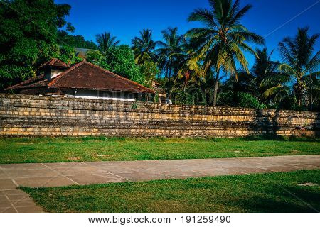 Buildings in the Temple of Tooth of Buddha Sri Lanka