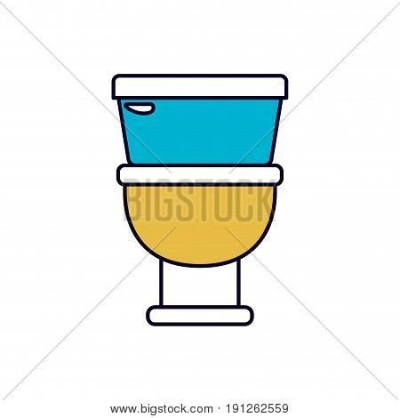 color sections silhouette of toilet icon in front view vector illustration