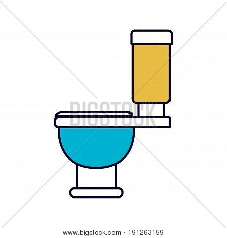 color sections silhouette of toilet icon side view vector illustration