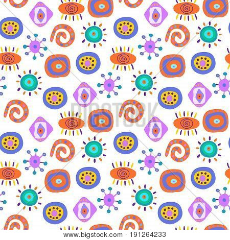 Cute seamless abstract pattern with a ethnic elements
