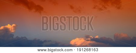 panoramic sky with beautiful in evening time beautiful background