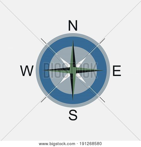 Compass compass rose navigation location fully editable vector image