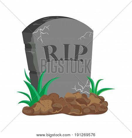 image tombstone RIP flat design vector image
