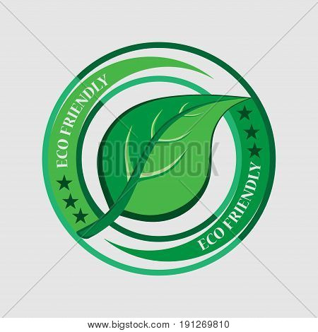 Ecology logo label ecologically clean product Ecology sticker flat design vector image
