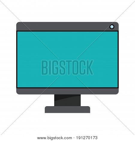 white background with colorful silhouette of lcd monitor vector illustration