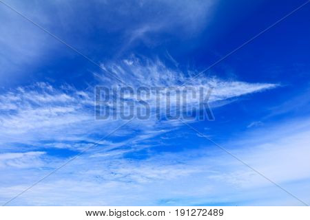 blue sky vivid with cloud in summer art of nature beautiful and copy space for add text