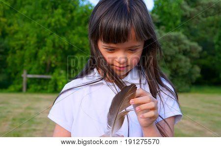 Beautiful girl have fun in the park