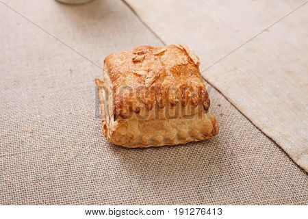 Fresh pastry with crispy crust on the table