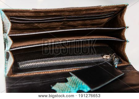 clutch purse with several compartments with soft material