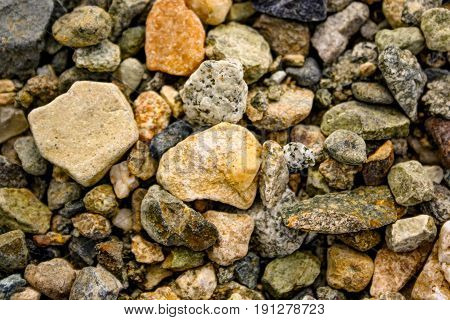 Granite Rubble Background Texture.