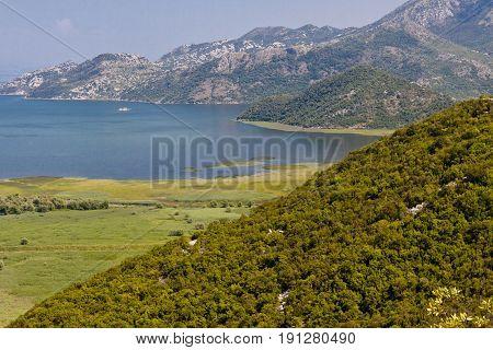 Montenegro summer day. View on Skadarsko lake - Balakns