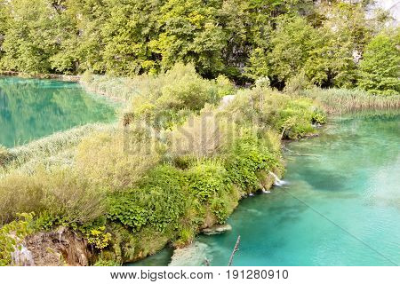 Plitvice lakes - National park in Croatia.