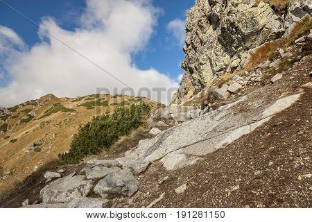 Trail from Kasprowy Wierch to Czerwone Wierchy - Tatras Mountains. Polish National Park.