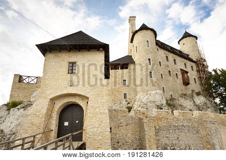 Gate to castle in Bobolice. Jura region - Poland Silesia.