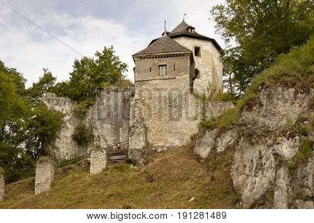 View on old castle in Ojcow - Poland Europe.