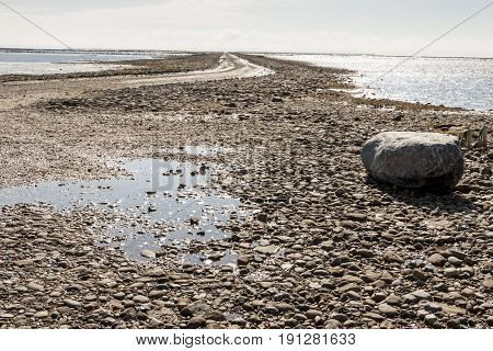 Wadden Sea (UNESCO) National Park near Mando island Jutland North Sea Denmark Europe