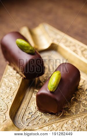 Handmade Luxury Chocolates With Pistachio