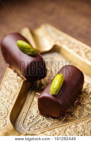 Handmade Luxury Chocolates With Pistachio