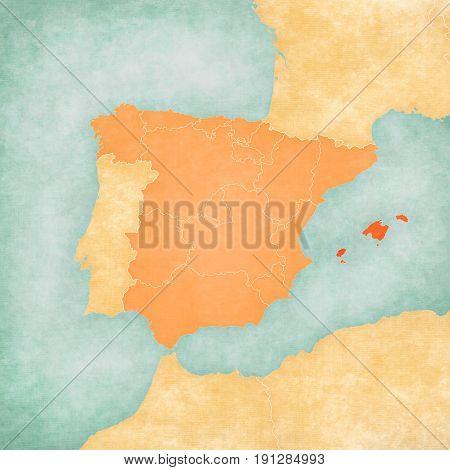 Map Of Iberian Peninsula - Balearic Islands
