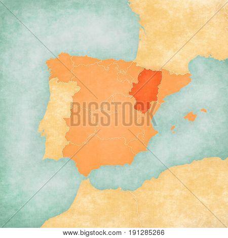 Map Of Iberian Peninsula - Aragon