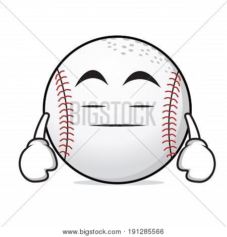 Boring baseball cartoon character collection vector illustration