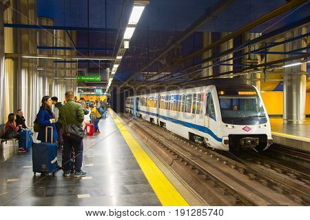 Madrid Metro Train Station, Spain