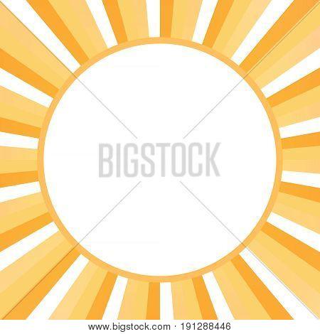 Sunburst Frame, White And Orange Rays