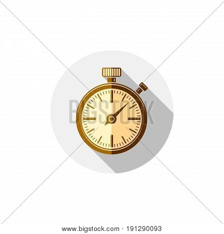 3d pocket watch graphic illustration. Three-dimensional timer classic stopwatch. Time management symbolic icon.